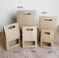 Kraft packaging - Kraft Paper Flat Base Bags with Clear Window 5 Kinds of size, Kraft Stand Up Bags, Favour Bags, Packaging – Kraft packaging Kraft Packaging, Bakery Packaging, Cookie Packaging, Gift Box Packaging, Food Packaging Design, Packaging Ideas, Paper Bag Design, Cardboard Packaging, Kraft Paper