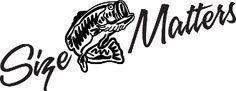 Size Matters Bass Fishing Vinyl Decal  www.sexygrafitti.com