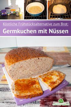 Die köstliche Frühstücksalternative zum Brot. Es muss nicht immer ein Butterbrot mit Marmelade, ein Croissant oder eine Semmel sein. Wie wäre es mit einer fluffigen Scheibe Nusskuchen zu Butter und Marmelade? Ich zeige dir wie du so eine für dein nächstes Frühstück zubereitest. [Werbung da Markennennung, selbst gekauft] #germkuchen #nusskuchen #frühstück #frühstücken #brunch #brunchen #brunchtime #sonntag #sonntagszeit #genießen #breakfast ##ultrapro #ultraprorezept #tupperware Nutella, Croissant, Tupperware, Butter, Cake Batter, Almond Milk, Marmalade, Almonds, Brot