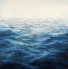 Sears Peyton Gallery - MaryBeth Thielhelm | Works, Indigo Blue Sea, oil on panel, 60 x 60 inches. Obviously I can dream...