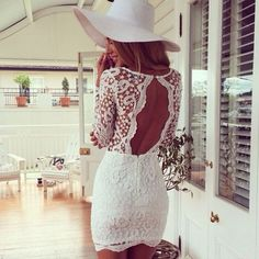 Lace Me Up Bodycon Dress In White   #choies #white #dress #fashion