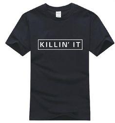 Killin' It XLarge Novelty Black Shirt Made with Press Men's Women's Graphic Shirt