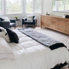 Room And Board Furniture, Modern Bedroom Furniture, Home Decor Bedroom, Bedroom Décor, Bedroom Ideas, Room And Board Living Room, Furniture Layout, Bedroom Inspo, Furniture Ideas