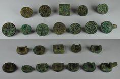 Amlash bronze pendants, 2nd-1st millenium B.C. Amlash bronze pendants, two loops…