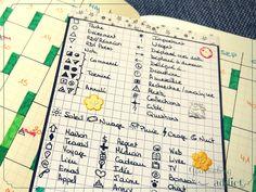 my old keys bullet journal