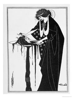 The Dancer's Reward, Illustration from Salome by Oscar Wilde, Published 1894 Lámina giclée por Aubrey Beardsley en AllPosters.com.ar.