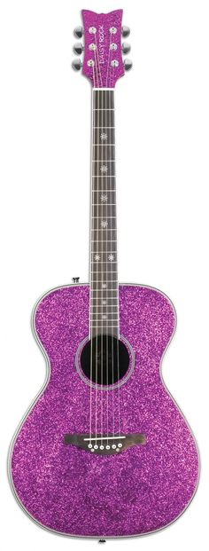 I don't care about the fact that I can't play the guitar...I still want it! pink, shiny, and sparkly..I'll learn to play eventually