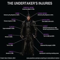 Undertaker's List of Injuries in WWE (With Picture)
