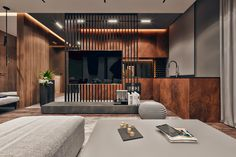 Discover recipes, home ideas, style inspiration and other ideas to try. Living Room Partition Design, Living Room Divider, Room Partition Designs, Living Room Tv Unit Designs, Small Apartment Interior, Apartment Design, Living Room Interior, Tv Stand Room Divider, Room Dividers