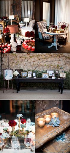 i love this family photo table...great for a wedding or family reunion!