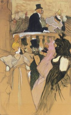 Henri de Toulouse-Lautrec (1864-1901) | Au bal de l'opéra | 19th Century, Drawings & Watercolors | Christie's