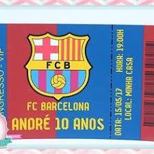 Resultado de imagem para convite ingresso barcelona