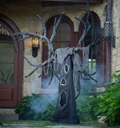 Cool HALLOWEEN Tree •positional branches •over 6 feet tall. I'll plant a FOREST of these! ==Hallo365