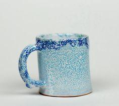 Handmade glazed ceramic mug mug for tea blue mug by PotterAsh