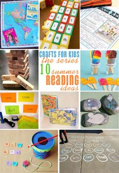 10 Summer Reading Ideas - {Crafts for Kids} | @kimbyers TheCelebrationShoppe.com