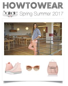 """""""Satinette double face jacket"""" by trendcrossing on Polyvore featuring moda, Accessorize, Linda Farrow, Converse, satinette e dublefacejacket"""