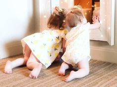 My little matching lemon drops! #ministyle #babystyle #littlegirlstyle #minifashionista #ministylista #sisterstyle #twinning #springstyle #summerstyle #ShopStyle #shopthelook #SpringStyle #baby #littlegirl #toddlerstyle