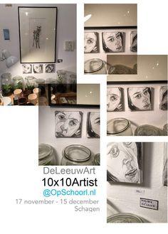 #DeLeeuwArt #10x10Artist @OpSchoorl.nl #Schagen #NoordHolland 17/11-15/12 2017