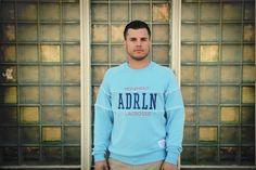 Adrenaline Movement Sportswear Crewneck Pullover in Blue