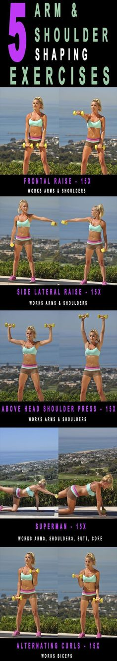 5 Arm workout.. Get that core nice and tight for summer with these fitness moves! #Workout - #Womens #Health #Exercises #Arm #Fitness diet workout toned arms