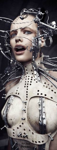 Giger Art, Bride Of Frankenstein, Future Fashion, Metallica, Halloween Face Makeup, Black And White, Artwork, Silver, Sharp Objects