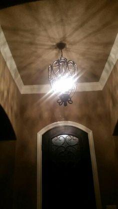 Light over entranceway.
