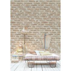 Urban Bricks Wallpaper – Gray Beige rnrnSource by blokiau Brick Wallpaper Grey, Brick And Stone, Outdoor Furniture, Outdoor Decor, Sun Lounger, Beige, Sweet Home, Urban, Bricks