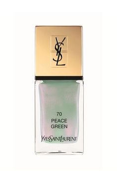 It may look a little odd in the bottle, but YSL Beauty's brand-new Peace Green is beautiful on the nails. It's a soft seafoam green with a sheer, iridescent finish that makes it look incredibly modern. YSL Beauty La Laque Couture in Peace Green, $27, available at YSL Beauty.  #refinery29 http://www.refinery29.com/nail-polish-trends-2016#slide-19