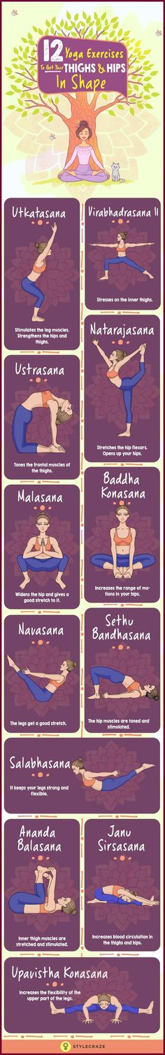 Due to our sedentary lifestyles and lack of exercise, we tend to accumulate fat in the hips and thighs. Here are a few basic asanas in yoga to reduce hips and thighs. A proper combination of diet and yoga can reduce the fat in these areas.