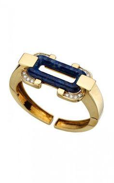 Cartier Diamond & Cuff Brazalete de Oro Lapis