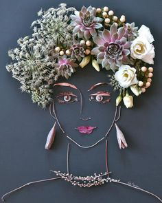 """""""Camille"""" Flower Face Print"""