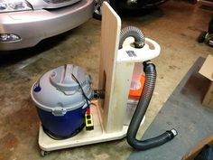 Roll-Around Shop-Vac cart with Dust Deputy Cyclone