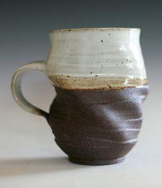 Twisted Coffee Mug, 16 oz, handmade ceramic cup, tea cup, coffee cup