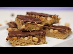 Raw Protein Packed Vegan Snickers Bars | GLOW - YouTube