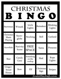 Christmas Printable Bingo is a fun game to play with your family or date.