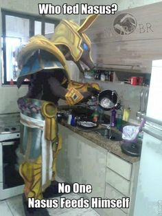 Nasus knows how to cook.