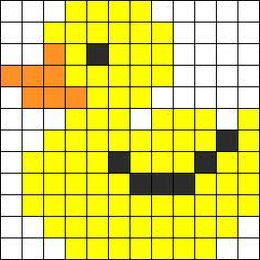 Rubber Ducky Perler Bead Pattern / Bead Sprite
