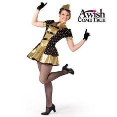 Boogie Woogie Bugle Boy (Adult) Dance Costume...I sense a retro, military theme in my taste!