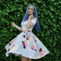Happy Stars Shine The Brightest -{ Maybeanothername }× Girl With Purple Hair, Blue Hair, Pretty Outfits, Cute Outfits, Fashion Beauty, Girl Fashion, Fashion Hair, Goth Hair, Pastel Outfit