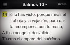 #Promesa para Los que sufren injusticia. Salmo 10:4