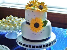 KB Kakes' sunflower wedding cake and famous gourmet kake truffles with mini sunflowers to match! KB Kakes is located in Alachua, Florida.  Check us out on our website at www.kbkakes.com or call us at (386) 518- 6878 and book an appointment with us today!