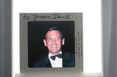 35mm Slide of American personality, David Janssen, smiling.