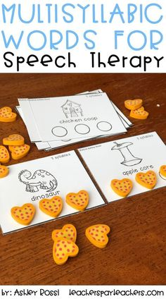 Nothing better than giving students a tactile activity to work on syllables. This activity is perfect for my Apraxia students in speech therapy. Tactile Activities, Speech Therapy Activities, Speech Language Pathology, Speech And Language, Articulation Therapy, Articulation Activities, Language Activities, Phonics, Love Speech