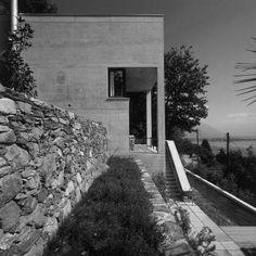 Luigi Snozzi, Diener House, Switzerland Architecture Details, Landscape Architecture, Luigi, Facade, Concrete, Images, Sidewalk, Layout, Building