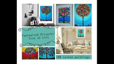 100 custom Tree of Life paintings by Prisarts project video thumbnail Original painting Tree Of Life Painting, Mexican Folk Art, Office Art, Fine Art America, Whimsical, The 100, Original Paintings, Gallery Wall, Wall Art