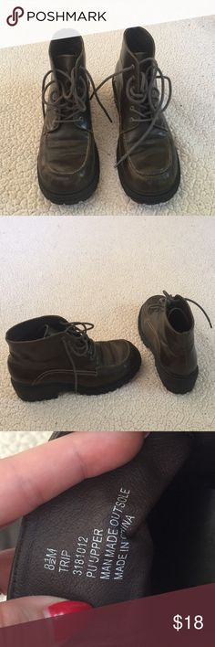 Women's work boots Union bay women's boots; size 8 1/2; good used condition only worn a couple times- couple little marks on boots nothing too noticeable UNIONBAY Shoes Lace Up Boots