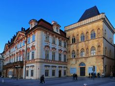 Kinský Palace is a former palace and now an art museum. It is located in the Old Town area of Prague, Czech Republic.