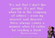 Rather reading a book