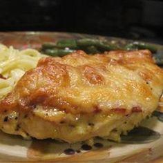 Easy Honey Mustard Mozzerella chicken