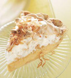 Lemon & Toated Coconut Meringue   Pie
